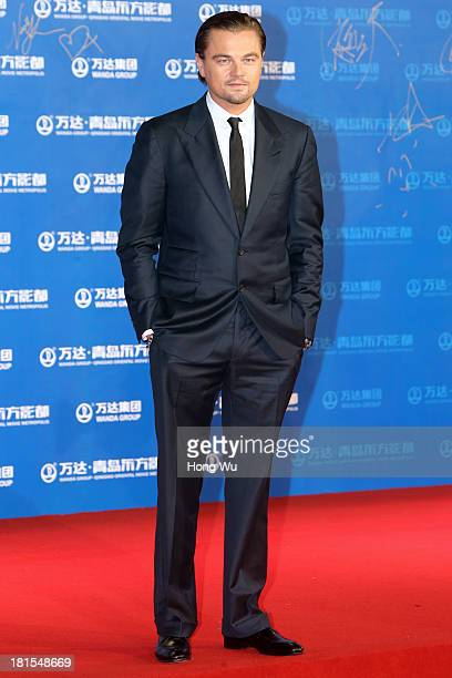 Actor Leonardo DiCaprio attends the red carpet show for the Qingdao Oriental Movie Metropolis on September 22 2013 in Qingdao China