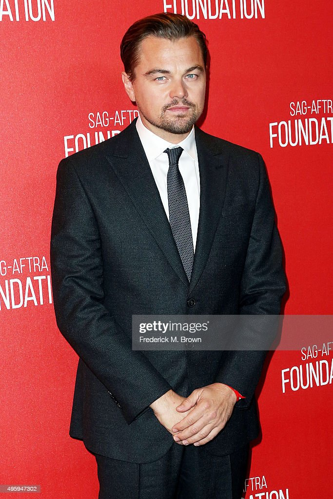 Actor Leonardo DiCaprio attends the Screen Actors Guild Foundation 30th Anniversary Celebration at the Wallis Annenberg Center for the Performing Arts on November 5, 2015 in Beverly Hills, California.