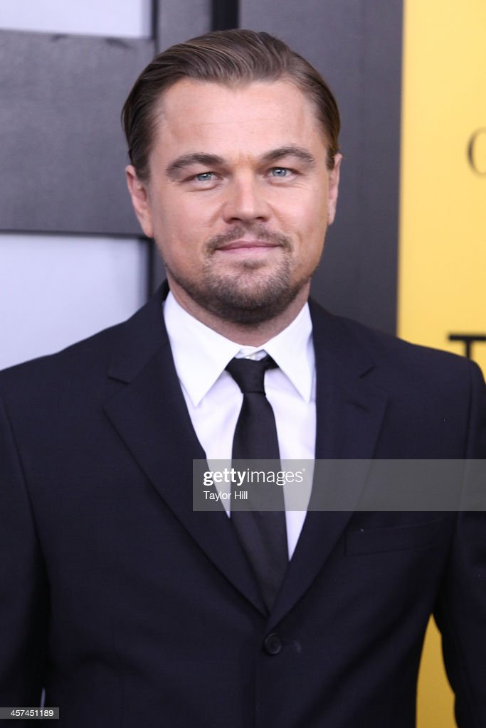 Actor <a gi-track='captionPersonalityLinkClicked' href=/galleries/search?phrase=Leonardo+DiCaprio&family=editorial&specificpeople=201635 ng-click='$event.stopPropagation()'>Leonardo DiCaprio</a> attends the 'The Wolf Of Wall Street' premiere at Ziegfeld Theater on December 17, 2013 in New York City.