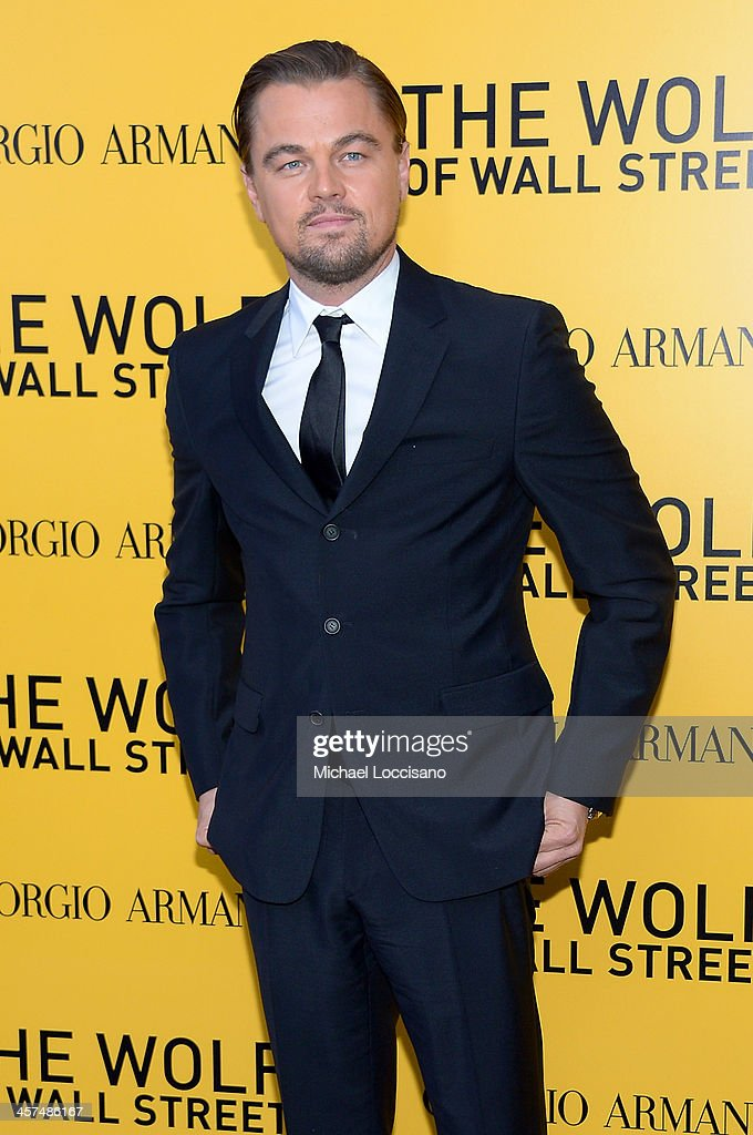 Actor <a gi-track='captionPersonalityLinkClicked' href=/galleries/search?phrase=Leonardo+DiCaprio&family=editorial&specificpeople=201635 ng-click='$event.stopPropagation()'>Leonardo DiCaprio</a> attends the 'The Wolf Of Wall Street' premiere at the Ziegfeld Theatre on December 17, 2013 in New York City.