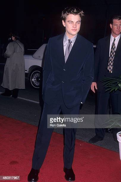 Actor Leonardo DiCaprio attends the 'Titanic' Hollywood Premiere on December 14 1997 at the Mann's Chinese Theatre in Hollywood California