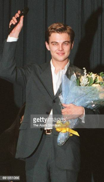 Actor Leonardo DiCaprio attends the 'Titanic' Japan Premiere at Bunkamura Orchard Hall on November 1 1997 in Tokyo Japan