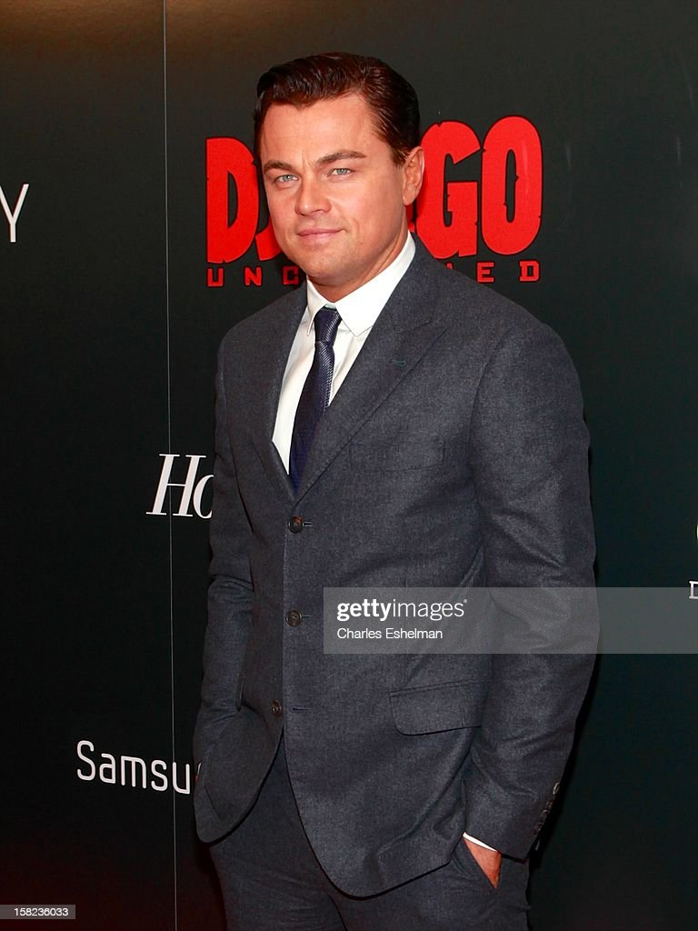 Actor <a gi-track='captionPersonalityLinkClicked' href=/galleries/search?phrase=Leonardo+DiCaprio&family=editorial&specificpeople=201635 ng-click='$event.stopPropagation()'>Leonardo DiCaprio</a> attends The Weinstein Company With The Hollywood Reporter, Samsung Galaxy And The Cinema Society Host A Screening Of 'Django Unchained' at Ziegfeld Theater on December 11, 2012 in New York City.