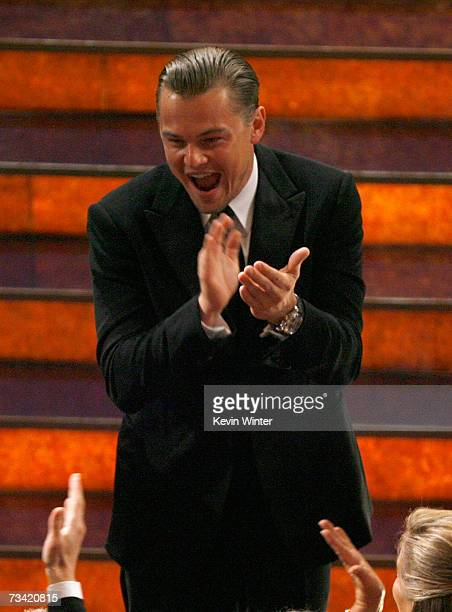 Actor Leonardo DiCaprio in the audience during the 79th Annual Academy Awards at the Kodak Theatre on February 25 2007 in Hollywood California