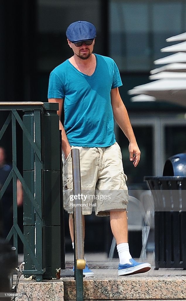 Actor <a gi-track='captionPersonalityLinkClicked' href=/galleries/search?phrase=Leonardo+DiCaprio&family=editorial&specificpeople=201635 ng-click='$event.stopPropagation()'>Leonardo DiCaprio</a> is seen in Soho on June 20, 2013 in New York City.