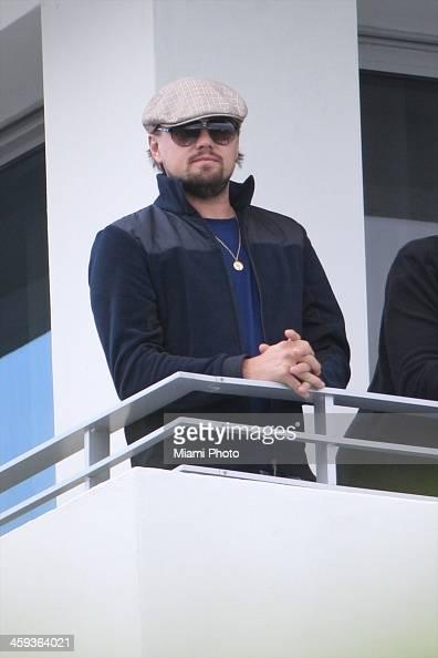 Actor Leonardo DiCaprio is seen on December 3 2013 in Miami Beach Florida