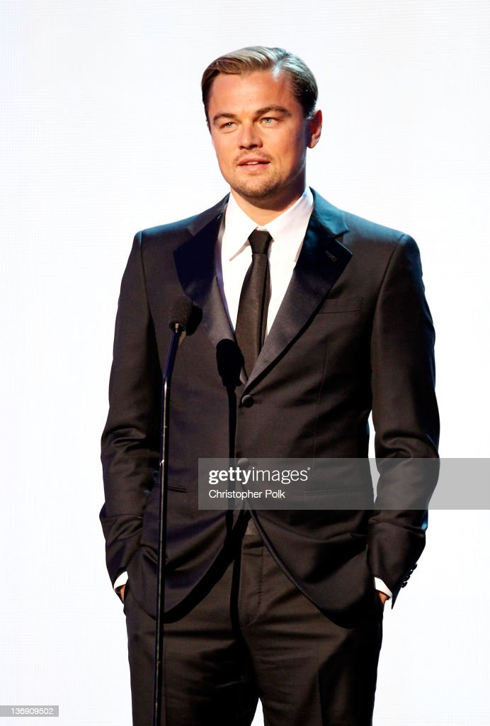Actor Leonardo DiCaprio onstage during the 17th Annual Critics' Choice Movie Awards held at The Hollywood Palladium on January 12, 2012 in Los Angeles, California.