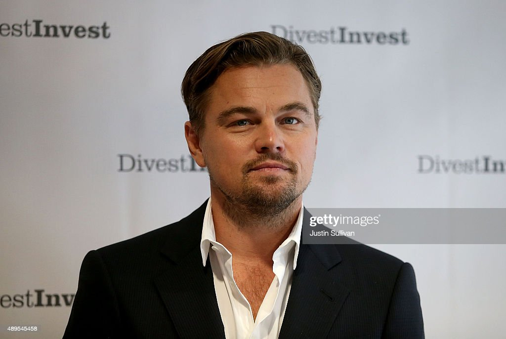 Actor <a gi-track='captionPersonalityLinkClicked' href=/galleries/search?phrase=Leonardo+DiCaprio&family=editorial&specificpeople=201635 ng-click='$event.stopPropagation()'>Leonardo DiCaprio</a> poses for a photo following a Divest-Invest new conference on September 22, 2015 in New York City. <a gi-track='captionPersonalityLinkClicked' href=/galleries/search?phrase=Leonardo+DiCaprio&family=editorial&specificpeople=201635 ng-click='$event.stopPropagation()'>Leonardo DiCaprio</a> joined leaders from the financial, faith and environmental spaces to announce major new divestment commitments and release a comprehensive data of assets divested to date. The group also announced commitments to also invest in clean energy alternatives.