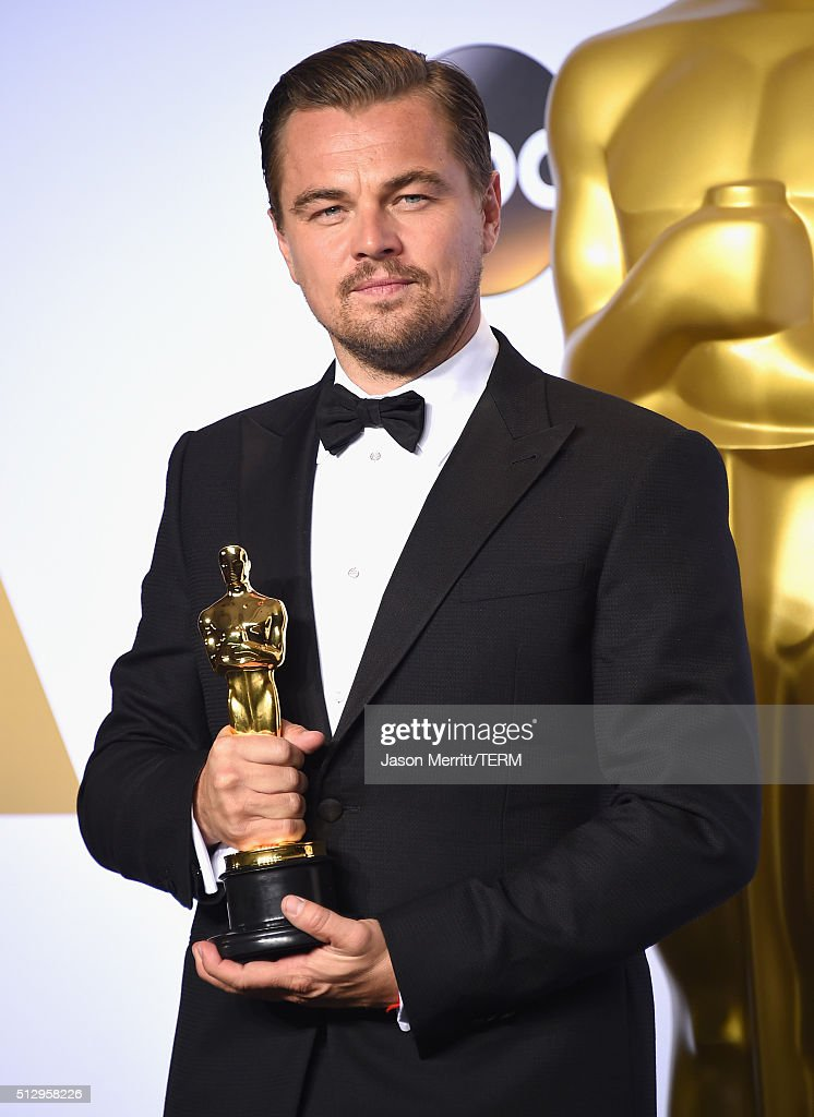 Actor <a gi-track='captionPersonalityLinkClicked' href=/galleries/search?phrase=Leonardo+DiCaprio&family=editorial&specificpeople=201635 ng-click='$event.stopPropagation()'>Leonardo DiCaprio</a>, winner of Best Actor for 'The Revenant,' poses in the press room during the 88th Annual Academy Awards at Loews Hollywood Hotel on February 28, 2016 in Hollywood, California.