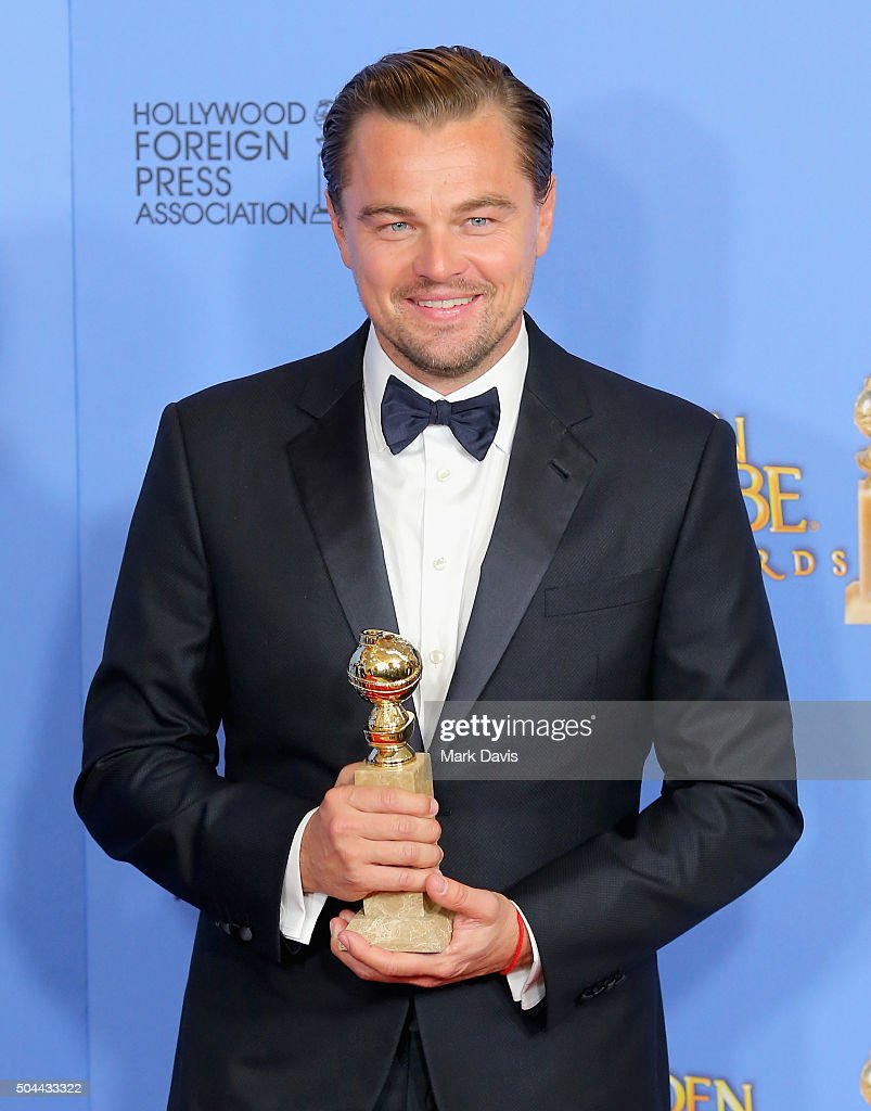 Actor <a gi-track='captionPersonalityLinkClicked' href=/galleries/search?phrase=Leonardo+DiCaprio&family=editorial&specificpeople=201635 ng-click='$event.stopPropagation()'>Leonardo DiCaprio</a>, winner of Best Performance by an Actor in a Motion Picture - Drama for 'The Revenant,' poses in the press room during the 73rd Annual Golden Globe Awards held at the Beverly Hilton Hotel on January 10, 2016 in Beverly Hills, California.