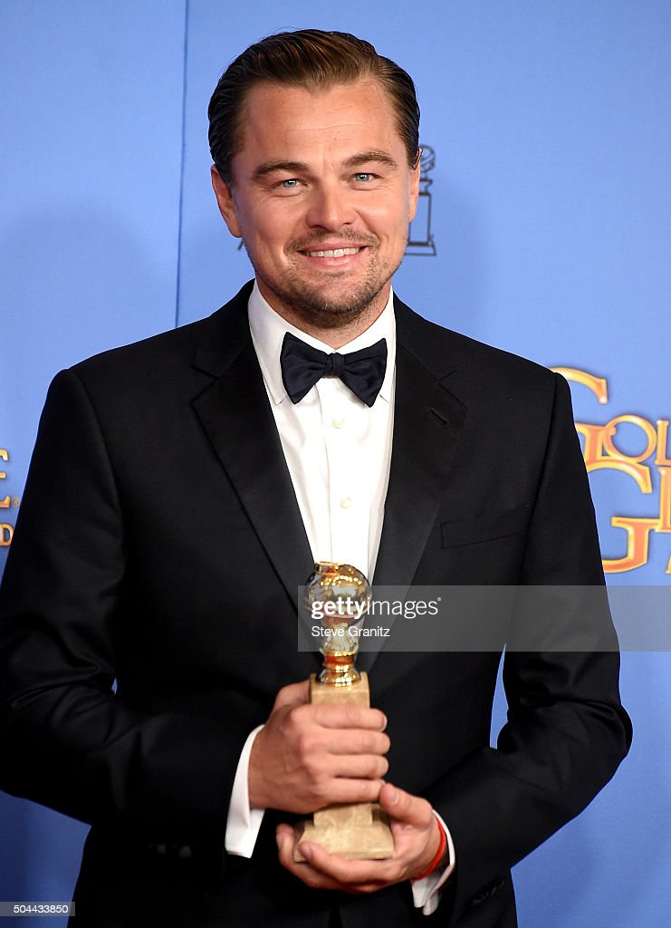 Actor Leonardo DiCaprio, winner of the award for Best Performance by an Actor in a Motion Picture - Drama for 'The Revenant,' poses in the press room during the 73rd Annual Golden Globe Awards held at the Beverly Hilton Hotel on January 10, 2016 in Beverly Hills, California.