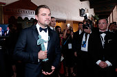 Actor Leonardo DiCaprio winner of the award for Outstanding Performance By a Male Actor in a Leading Role for 'The Revenant' attends The 22nd Annual...