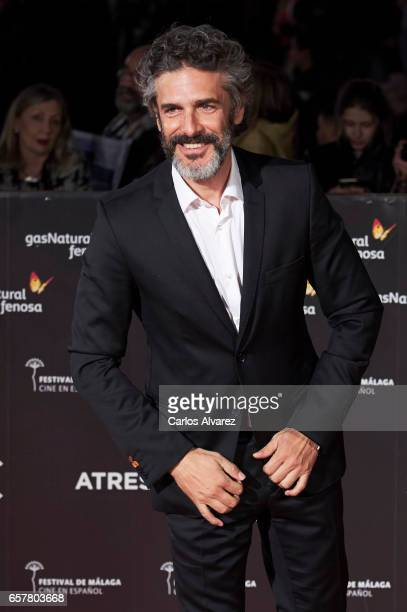 Actor Leonardo Sbaraglia attends the 20th Malaga Film Festival closing ceremony at the Cervantes Teather on March 25 2017 in Malaga Spain