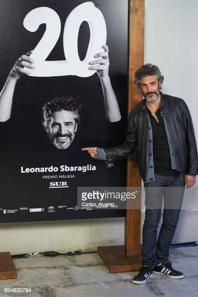 Actor Leonardo Sbaraglia receives the 'Malaga Sur' award 2017 during the 20th Malaga Film Festival 2017 Day 2 on March 18 2017 in Malaga Spain