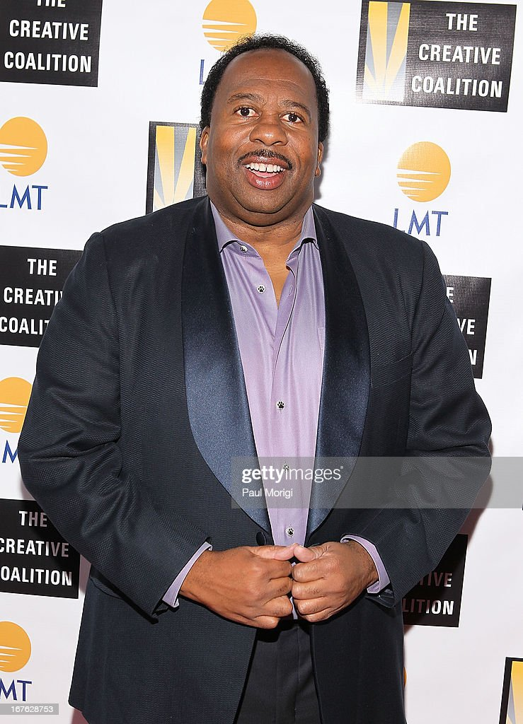 Actor <a gi-track='captionPersonalityLinkClicked' href=/galleries/search?phrase=Leslie+David+Baker&family=editorial&specificpeople=841061 ng-click='$event.stopPropagation()'>Leslie David Baker</a> attends Celebrating The Arts In American Dinner Party With Distinguished Women In Media presented by Landmark Technology Inc. and The Creative Coalition at Neyla on April 26, 2013 in Washington, DC.