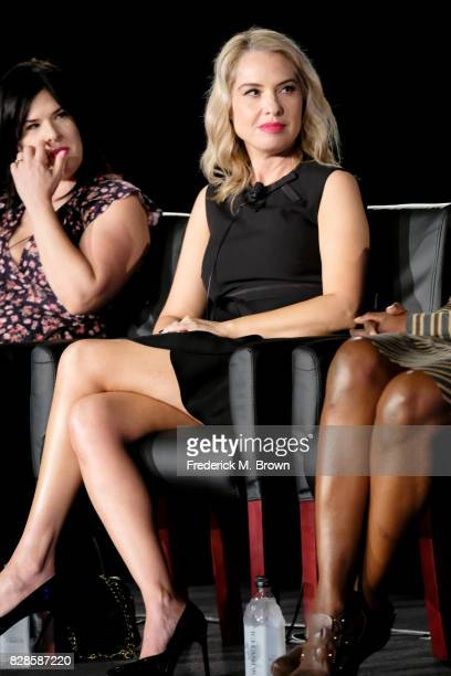 Actor Leslie Grossman of 'American Horror Story Cult' speaks onstage during the FX portion of the 2017 Summer Television Critics Association Press...