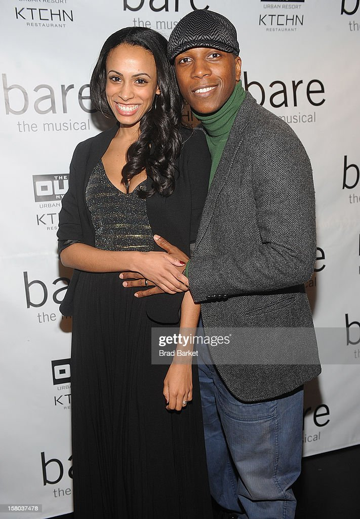 Actor Leslie Odom Jr and Nicolette Robinson attend 'BARE The Musical' Opening Night at New World Stages on December 9, 2012 in New York City.