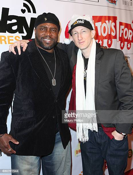Actor Lester Speight and Eric Zuley arrive at eZWayCares Community Santa Toy Drive on December 18 2016 in Los Angeles California