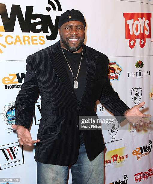 Actor Lester Speight arrives at eZWayCares Community Santa Toy Drive on December 18 2016 in Los Angeles California