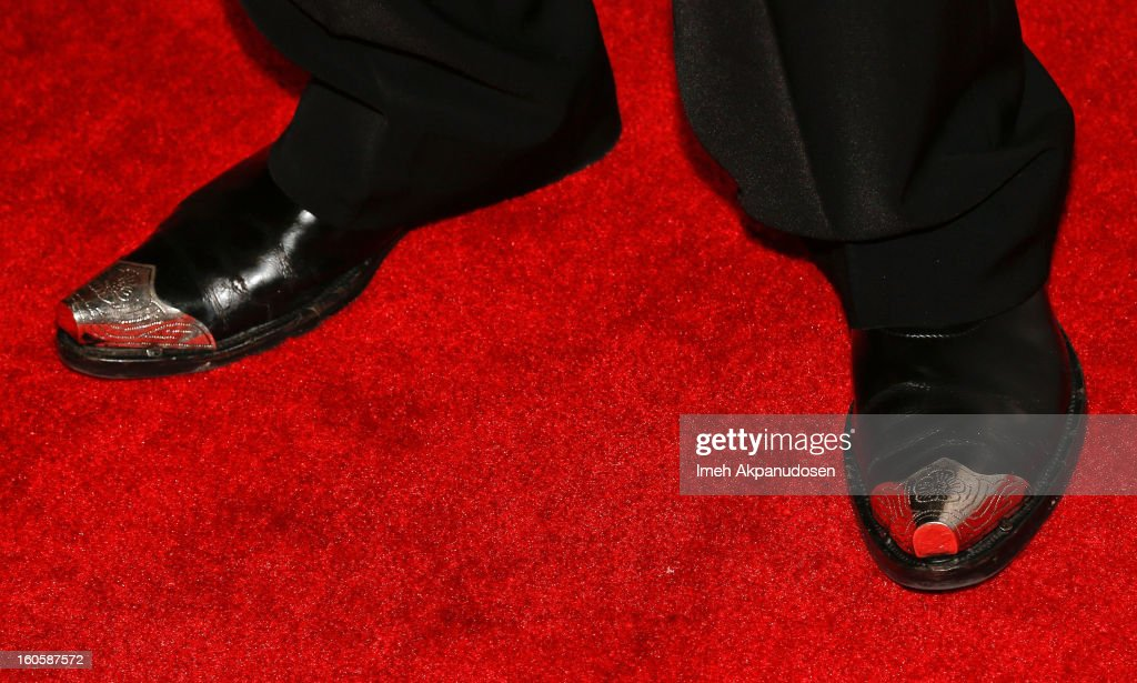 Actor LeVar Burton (shoe detail) attends the 17th Annual Art Directors Guild Awards For Excellence In Production Design at The Beverly Hilton Hotel on February 2, 2013 in Beverly Hills, California.