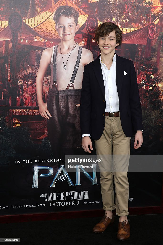 Actor Levi Miller attends 'Pan' premiere at Ziegfeld Theater on October 4, 2015 in New York City.