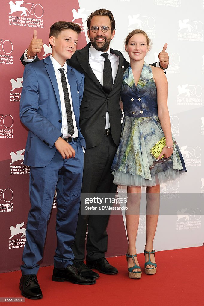 Actor Levin Liam, director Rick Ostermann and actress Helena Phil attend 'Wolfskinder' Photocall during the 70th Venice International Film Festival on August 29, 2013 in Venice, Italy.