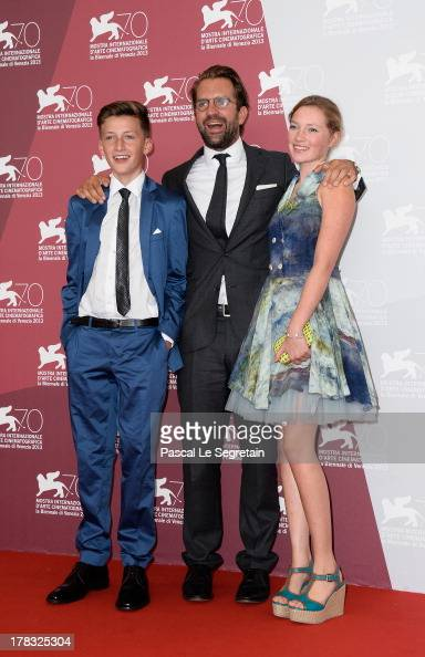 Actor Levin Liam director Rick Ostermann and actress Helena Phil attend Wolfschildren Photocall during The 70th Venice International Film Festivalon...
