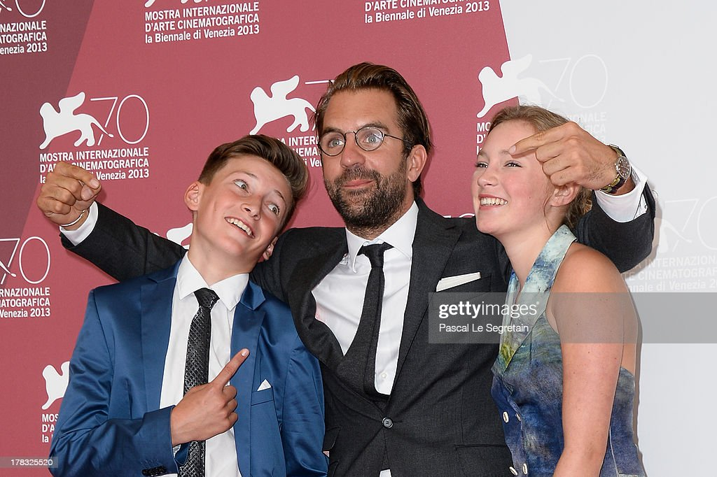 Actor Levin Liam, director Rick Ostermann and actress Helena Phil attend Wolfschildren Photocall during The 70th Venice International Film Festivalon August 29, 2013 in Venice, Italy.