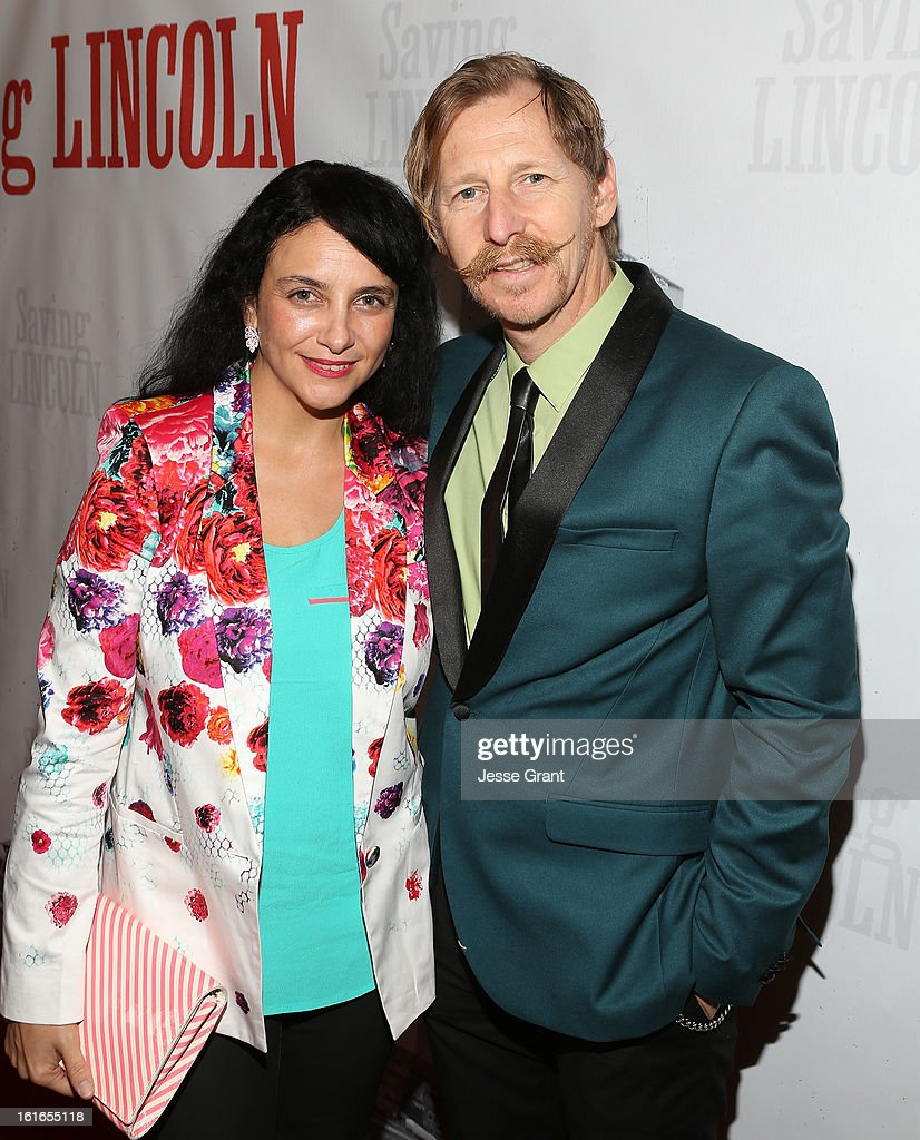 Actor Lew Temple (R) attends the Pictures From The Fringe World Premiere of 'Saving Lincoln' at The Alex Theatre on February 13, 2013 in Glendale, California.