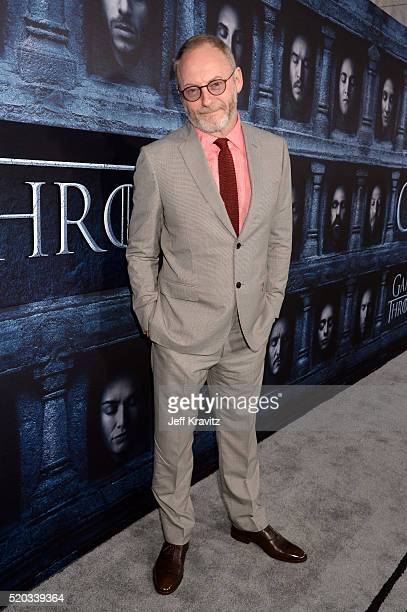 Actor Liam Cunningham attends the premiere for the sixth season of HBO's 'Game Of Thrones' at TCL Chinese Theatre on April 10 2016 in Hollywood City