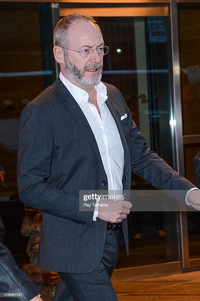 Actor Liam Cunningham leaves a Midtown Manhattan hotel on March 18, 2014 in New York City.
