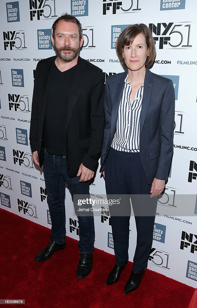Actor Liam Gillick and Joanna Hogg attend the 'Le Week-End' premiere during the 51st New York Film Festival at Alice Tully Hall at Lincoln Center on September 29, 2013 in New York City.