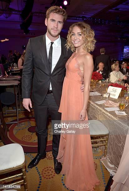 Actor Liam Hemsworth and singer/actress Miley Cyrus attend Muhammad Ali's Celebrity Fight Night XVIII held at JW Marriott Desert Ridge Resort Spa on...