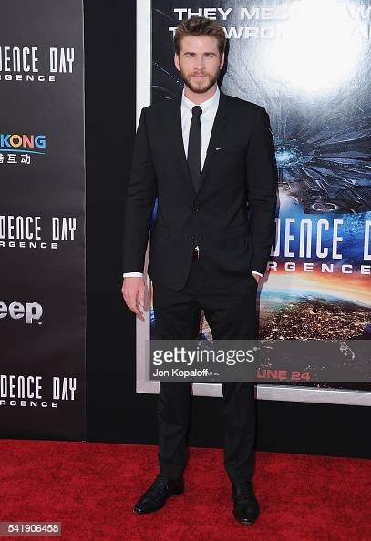 Actor Liam Hemsworth arrives at the Los Angeles Premiere 'Independence Day Resurgence' at TCL Chinese Theatre on June 20 2016 in Hollywood California