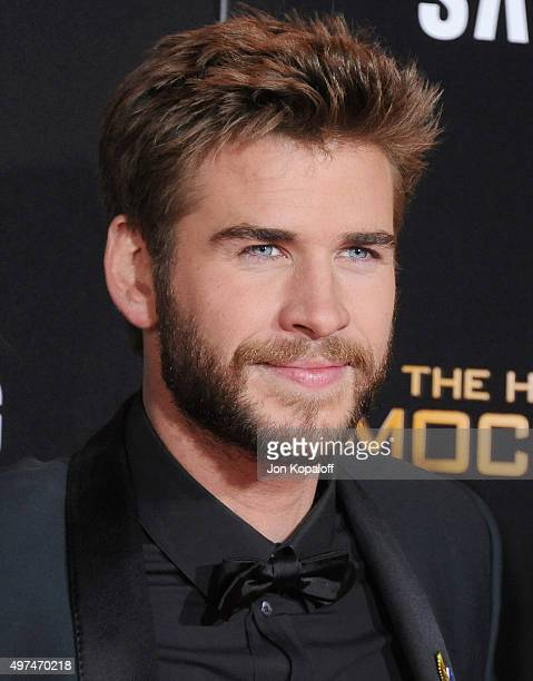 Actor Liam Hemsworth arrives at the Los Angeles Premiere Of Lionsgate's 'The Hunger Games Mockingjay Part 2' at Microsoft Theater on November 16 2015...