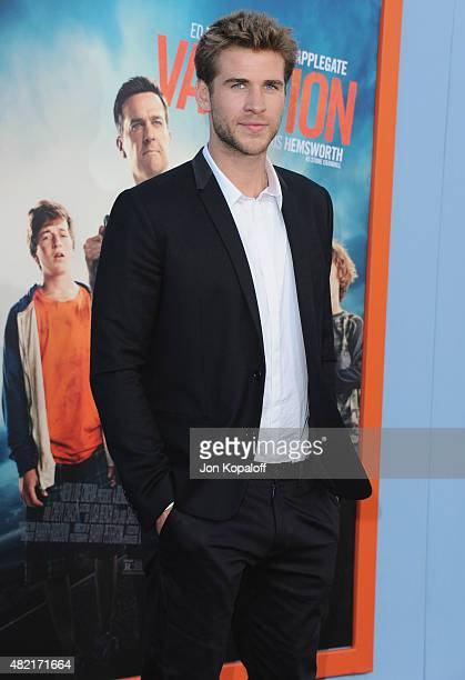 Actor Liam Hemsworth arrives at the Los Angeles Premiere 'Vacation' at Regency Village Theatre on July 27 2015 in Westwood California