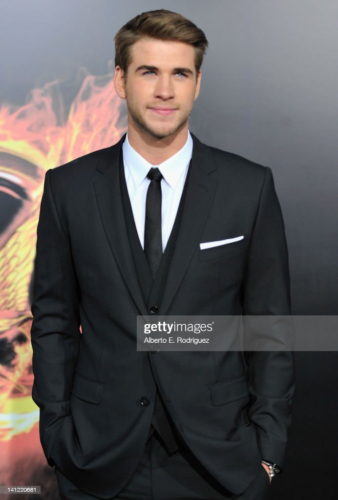 Actor <a gi-track='captionPersonalityLinkClicked' href=/galleries/search?phrase=Liam+Hemsworth&family=editorial&specificpeople=6338547 ng-click='$event.stopPropagation()'>Liam Hemsworth</a> arrives to the premiere of Lionsgate's 'The Hunger Games' at Nokia Theatre L.A. Live on March 12, 2012 in Los Angeles, California.