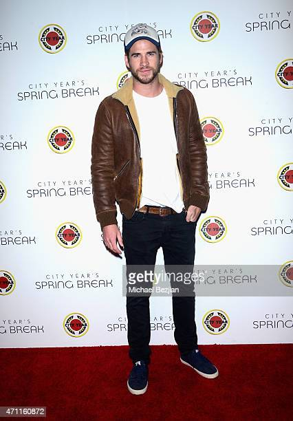 Actor Liam Hemsworth attends City Year Los Angeles Spring Break at Sony Studios on April 25 2015 in Los Angeles California