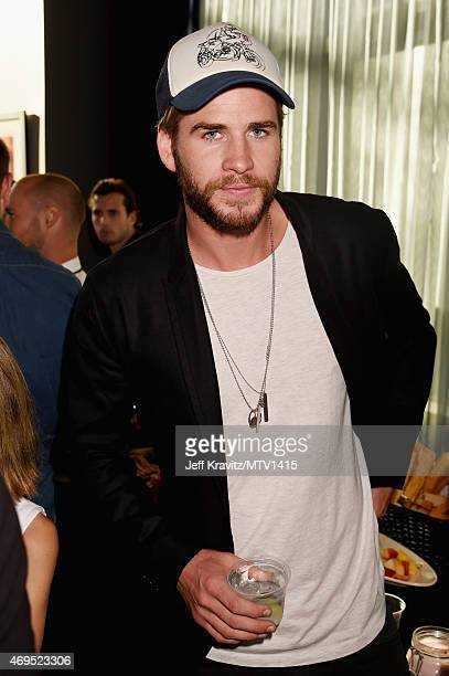 Actor Liam Hemsworth attends The 2015 MTV Movie Awards at Nokia Theatre LA Live on April 12 2015 in Los Angeles California