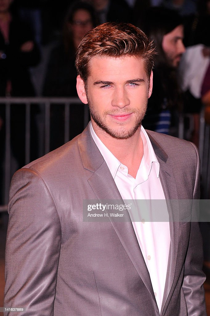 Actor <a gi-track='captionPersonalityLinkClicked' href=/galleries/search?phrase=Liam+Hemsworth&family=editorial&specificpeople=6338547 ng-click='$event.stopPropagation()'>Liam Hemsworth</a> attends the Cinema Society & Calvin Klein Collection screening of 'The Hunger Games' at SVA Theatre on March 20, 2012 in New York City.