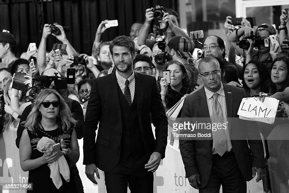 Actor Liam Hemsworth attends 'The Dressmaker' Premiere during the 2015 Toronto International Film Festival held at Roy Thomson Hall on September 14...
