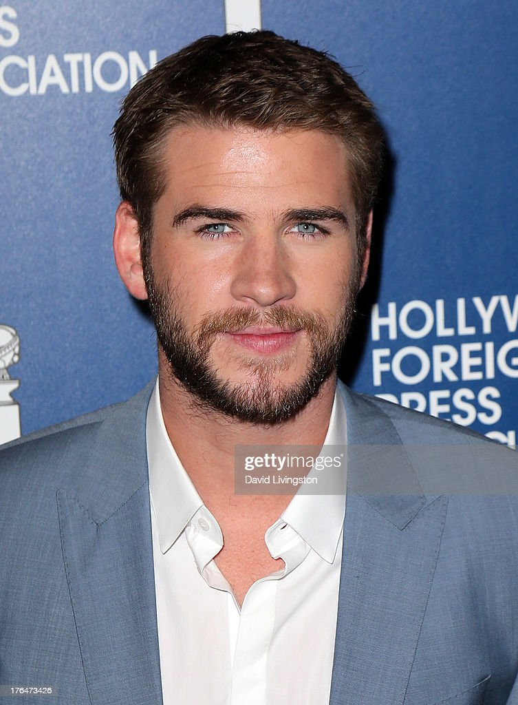Actor <a gi-track='captionPersonalityLinkClicked' href=/galleries/search?phrase=Liam+Hemsworth&family=editorial&specificpeople=6338547 ng-click='$event.stopPropagation()'>Liam Hemsworth</a> attends the Hollywood Foreign Press Association's 2013 Installation Luncheon at The Beverly Hilton Hotel on August 13, 2013 in Beverly Hills, California.