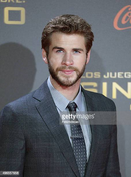 Actor Liam Hemsworth attends 'The Hunger Games Mockingjay Part 2' Madrid Premiere at Kinepolis Cinema on November 10 2015 in Madrid Spain