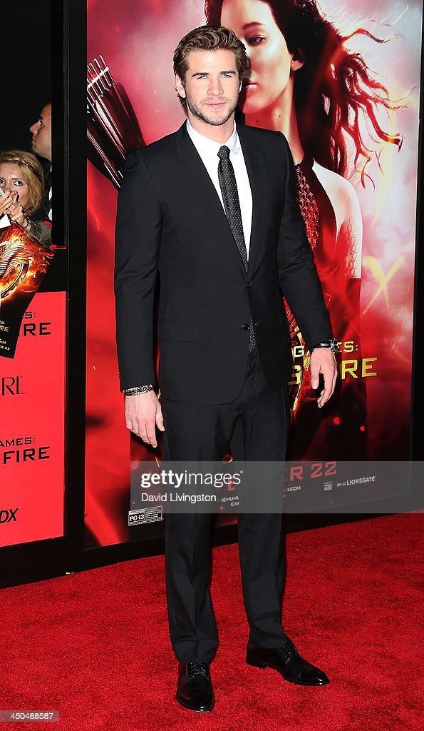 Actor Liam Hemsworth attends the premiere of Lionsgate's 'The Hunger Games: Catching Fire' at Nokia Theatre L.A. Live on November 18, 2013 in Los Angeles, California.