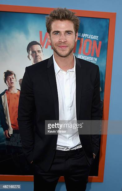 Actor Liam Hemsworth attends the premiere of Warner Bros Pictures 'Vacation' at Regency Village Theatre on July 27 2015 in Westwood California