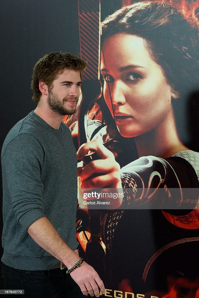 Actor <a gi-track='captionPersonalityLinkClicked' href=/galleries/search?phrase=Liam+Hemsworth&family=editorial&specificpeople=6338547 ng-click='$event.stopPropagation()'>Liam Hemsworth</a> attends the Spanish photocall of the film 'The Hunger Games - Catching Fire' (Los Juegos Del Hambre: En Llamas) at the Villamagna Hotel on November 13, 2013 in Madrid, Spain.