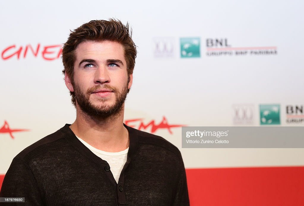 Actor <a gi-track='captionPersonalityLinkClicked' href=/galleries/search?phrase=Liam+Hemsworth&family=editorial&specificpeople=6338547 ng-click='$event.stopPropagation()'>Liam Hemsworth</a> attends the 'The Hunger Games: Catching Fire' Photocall during the 8th Rome Film Festival at the Auditorium Parco Della Musica on November 14, 2013 in Rome, Italy.