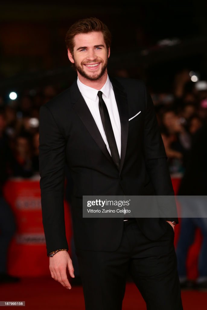 Actor <a gi-track='captionPersonalityLinkClicked' href=/galleries/search?phrase=Liam+Hemsworth&family=editorial&specificpeople=6338547 ng-click='$event.stopPropagation()'>Liam Hemsworth</a> attends the 'The Hunger Games: Catching Fire' Premiere during The 8th Rome Film Festival at Auditorium Parco Della Musica on November 14, 2013 in Rome, Italy.