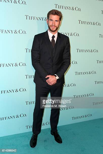 Actor Liam Hemsworth celebrates the unveiling of the renovated Tiffinay Co Beverly Hills store at Tiffany Co on October 13 2016 in Beverly Hills...