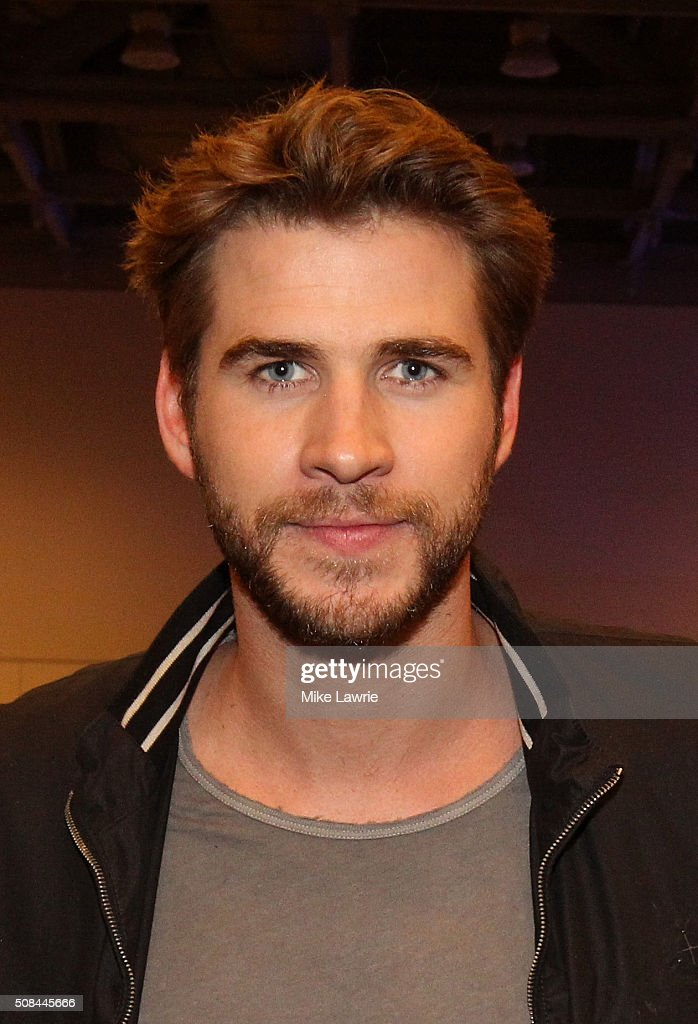Actor Liam Hemsworth poses after an interview on Radio Row in the Moscone Center West prior to Super Bowl 50 on February 4, 2016 in San Francisco, United States.